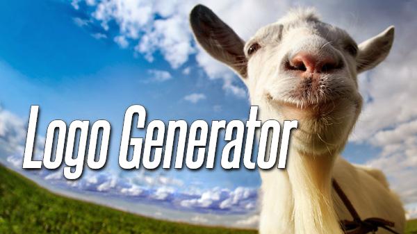 Goat simulator logo generator
